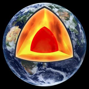 Lors de la création de notre planète, se sont formés à l'intérieur de la terre des éléments radioactifs e qui,  en raison de leur demi-vie extrêmement longue émettent encore un rayonnement après des milliards d'années.
