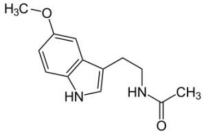 C13H16N2O2 Structure chimique de la mélatonine