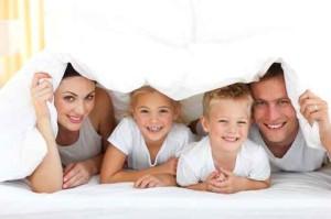 Dans une maison harmonisée, le sourire est de mise, car ici la plupart des atteintes à l'environnement sont sans effet.