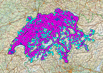 Électrosmog  en Suisse Les antennes de téléphonie mobile en Suisse sont rapidement localisables sur le site Internet de l'OFCOM.